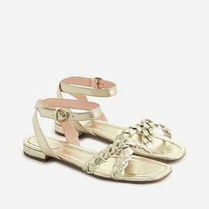 J.Crew Abbie Braided Sandals In Metallic